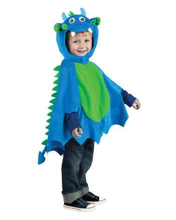 Drachen-Umhang mit Mütze blau-grün