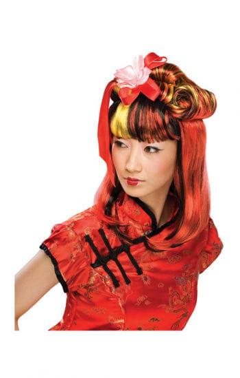Dragon Lady Wig Black Red