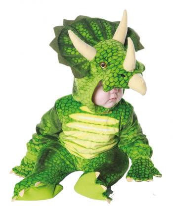 Dreihorn Dino Kinderkostüm Grün S