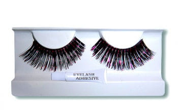 Real Hair Eyelashes Black/Pink