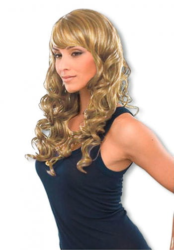 Noble curly long hair wig blond