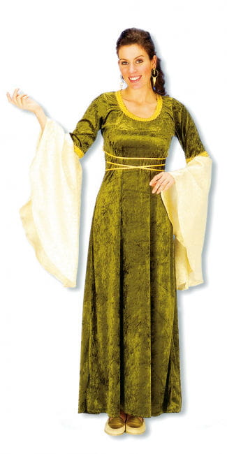 Damsel Costume green gold