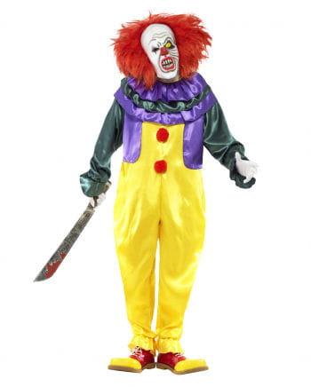 Classic Horror Clown Kostüm mit Maske
