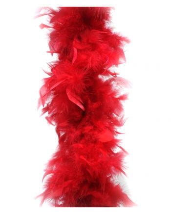 Feather Boa approx 185 cm red