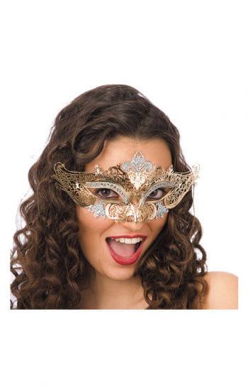 Filigrane Metall-Augenmaske gold
