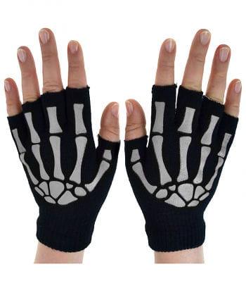 Fingerlose Skelett Handschuhe