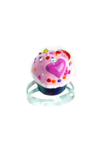 Cupcake Ring Lila Rosa