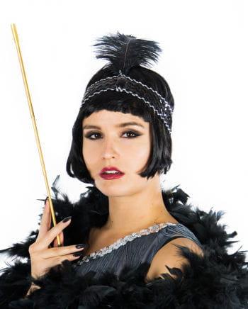 Flapper Headband Black