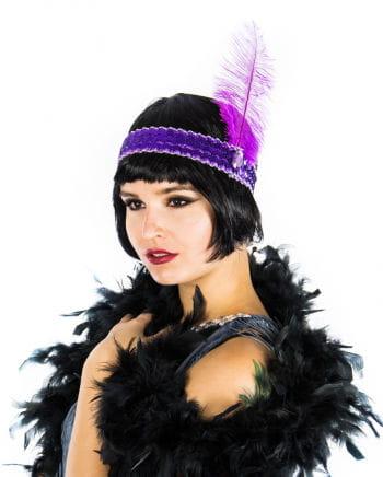 Flapper Stirnband violett