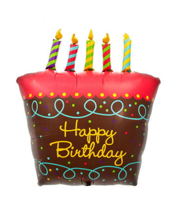Foil Balloon Birthday Cake & Candles