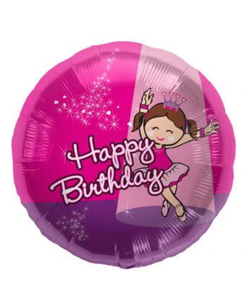 Folienballon Happy Birthday Ballerina