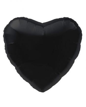 Schwarzer Herz Folienballon