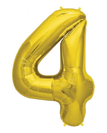 Foil Balloon Number 4 Gold