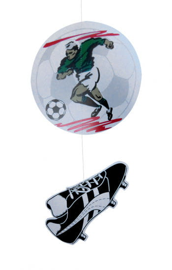 Dekohänger Fußballer und Fußballschuh