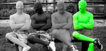 Ganzkörperanzug Grün