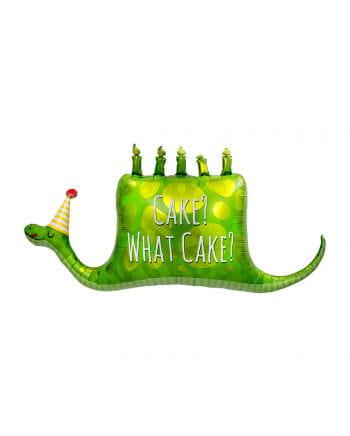 Folienballon Kuchen vertilgende Schlange