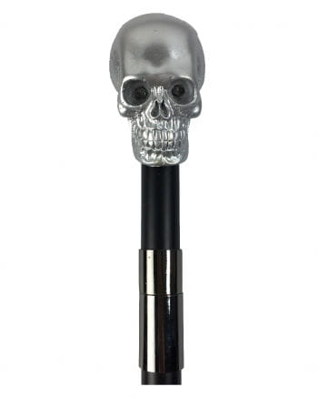 Gehstock Skull silber mit LED