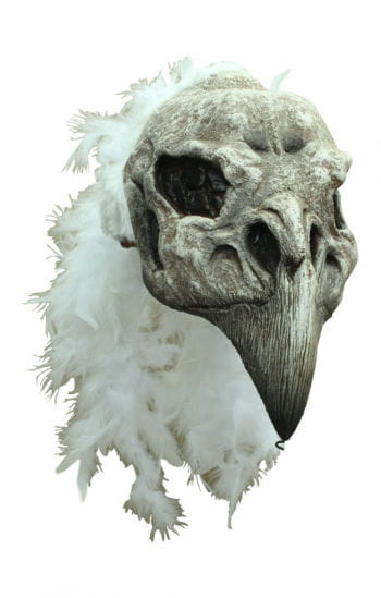 Vulture Headpiece with Fur and Feathers