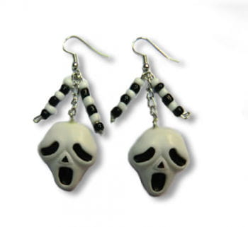Ghostface Earrings
