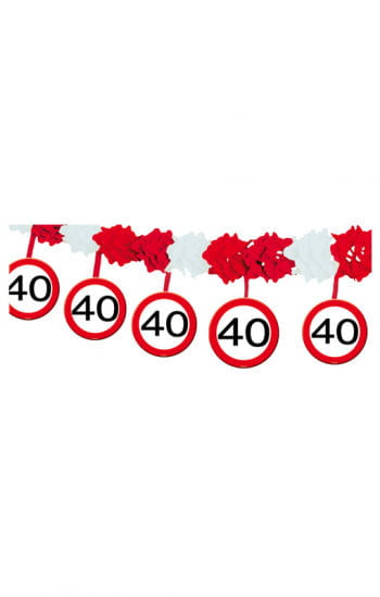 Girlande Verkehrsschild 40