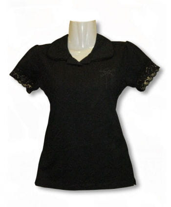 Sweet polo shirt with lace
