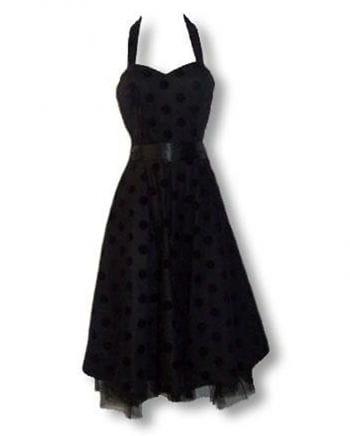 schwarz violettes Polka Dot Kleid L