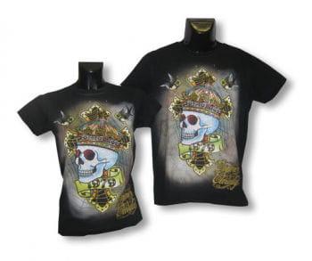 Unisex Shirt Skull Crown M/L 38-40