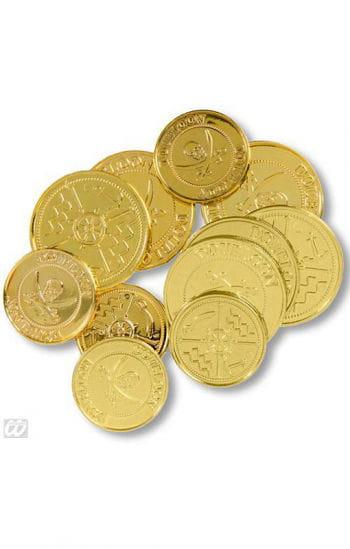 Goldene Piraten Münzen