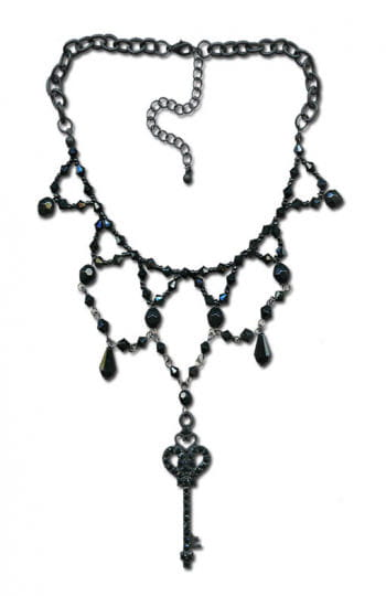 Pearl necklace with key