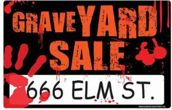 Grave Yard Sale Schild