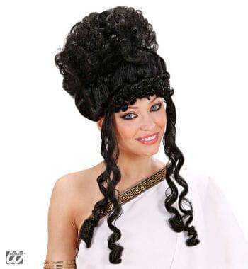 Griechische Göttin Perücke, schwarz