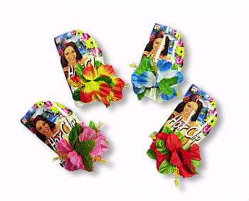 Hair Clip with Hibiscus Flower (var. colours)