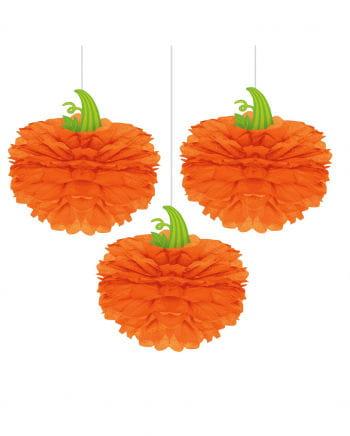 Halloween Pumpkin Made Of Paper 3 Pcs.