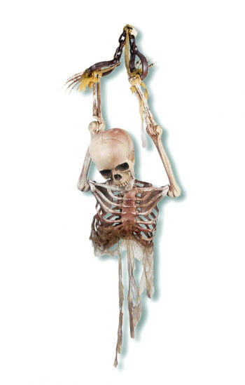 Chained Skeleton Torso Hanging Prop