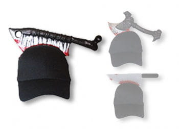 Halloween Cap with Meat Cleaver