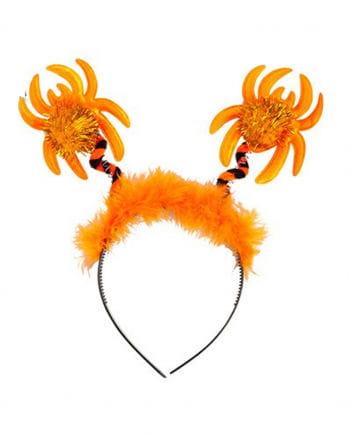 Haarreif orange Spinne