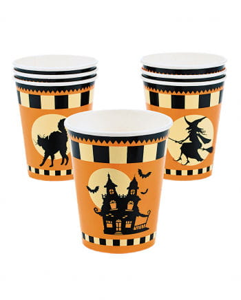 "Halloween Pappbecher ""Haunted House"" 8 St."