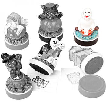 Halloween Rubber Stamp Laughing Ghost