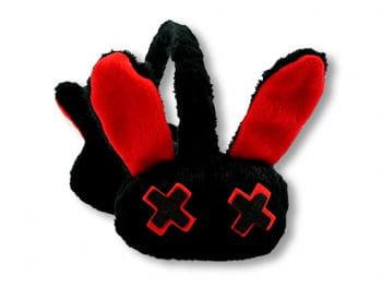 Luv Bunny Ohrenwärmer schwarz rot