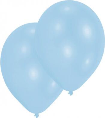 Hellblaue Luftballons 50 St.