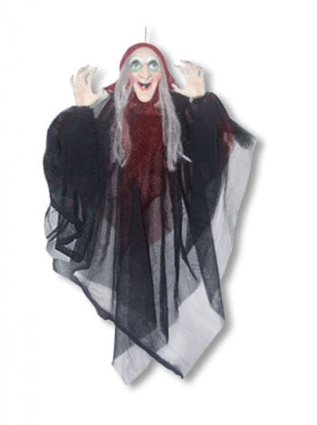 Hanging Witch with Red Cape