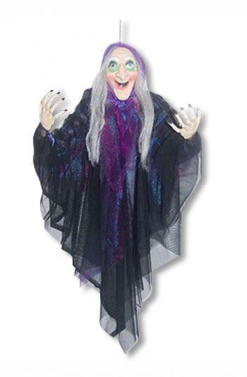 Hexen Hängefigur mit violettem Umhang