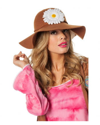 Hippie Hut mit Blüte