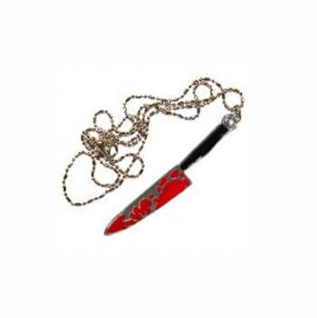 Horror Halskette blutiges Messer