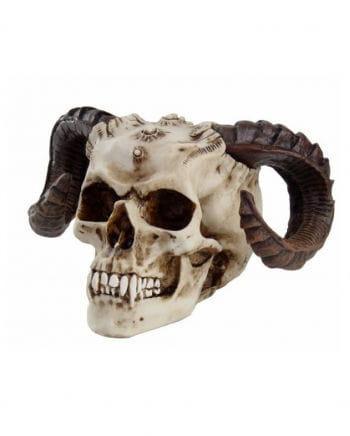 Devil head with ram horns