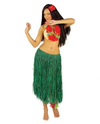 hula skirt green