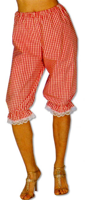 Checked Red / White Trousers L/XL 40-42