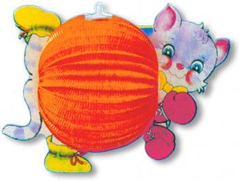 Katzen Papierlaterne für Kinder