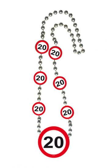 Kette Verkehrsschild 20