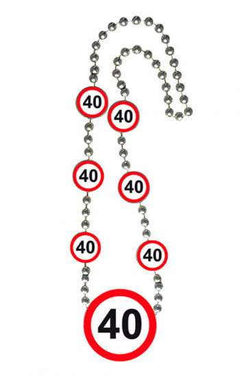 Kette Verkehrsschild 40